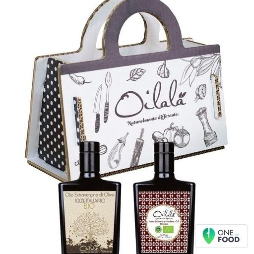 Shopper Gift Majolica Organic Evoo Balsamic 2 X 250 Ml
